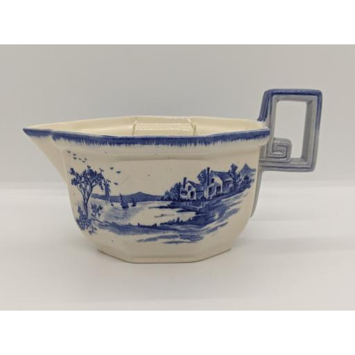 Doulton & co, 'Norfolk' blue and white sauce boat 1912