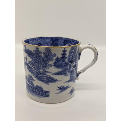 Spode blue and white coffee can c 1790