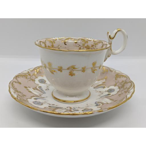 Coalport Regency coffee/chocolate cup and saucer c 1835