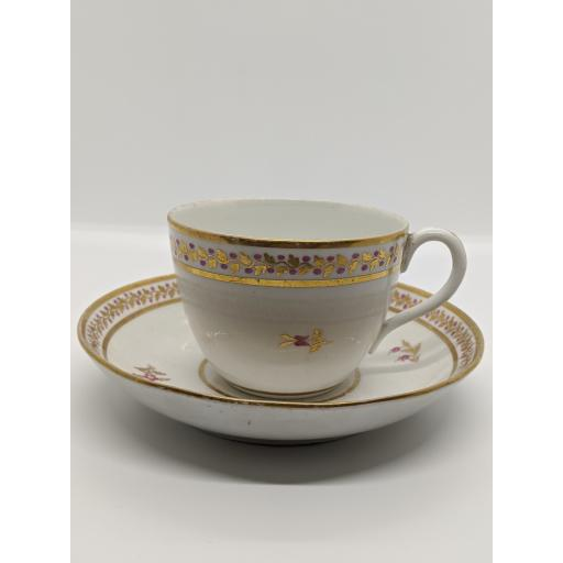 New Hall 'Bute' shape teacup and saucer c 1800
