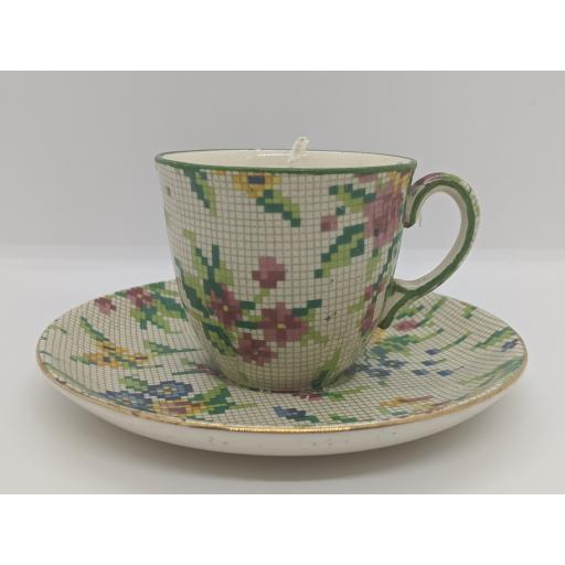 Staffordshire 'Queen Anne' Childs teacup and saucer c 1920