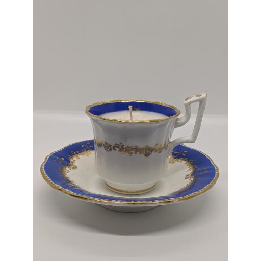 Regency coffee cup and saucer with 'Old English' handle c 1825