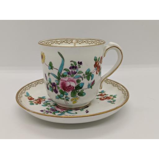 New Chelsea porcelain Company coffee cup and saucer c 1900