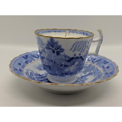 Miles Mason London shape coffee cup and saucer c 1814