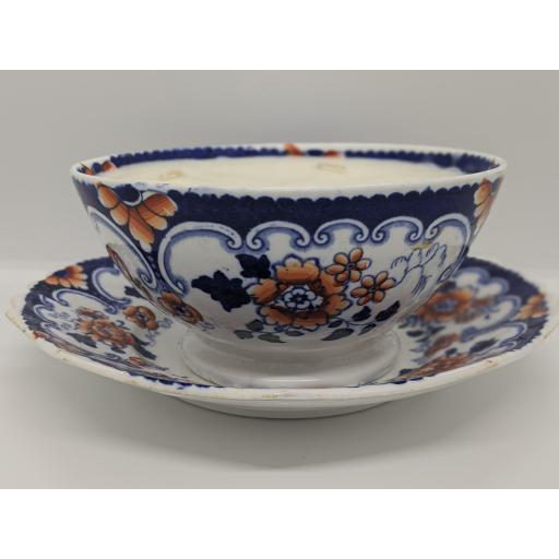 Staffordshire slop bowl and plate c 1840