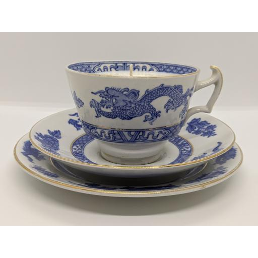 Cauldon 'Dragon' tea trio c 1925