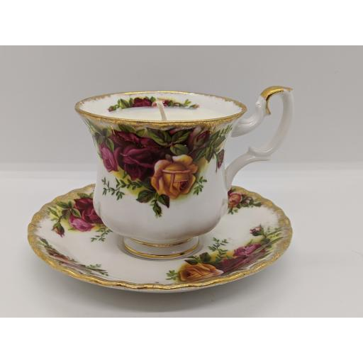 Royal Albert 'Old Country Roses' coffee cup and saucer c 1950