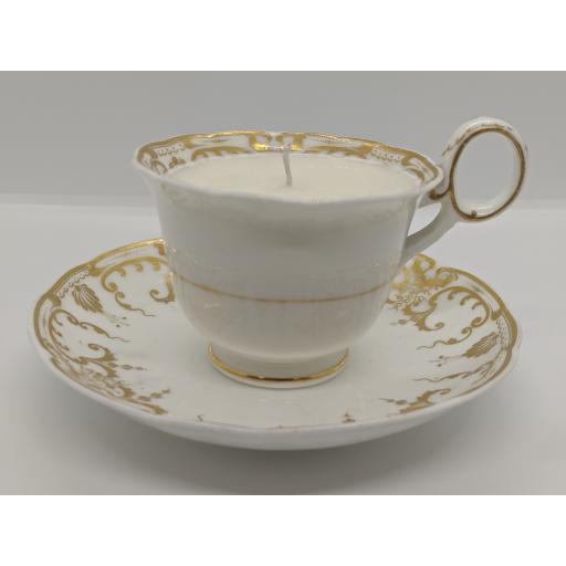 Regency Staffordshire coffee/chocolate cup and saucer c 1835