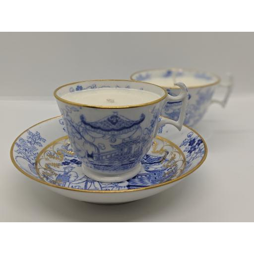Miles Mason 'London' shape tea and coffee trio c 1814
