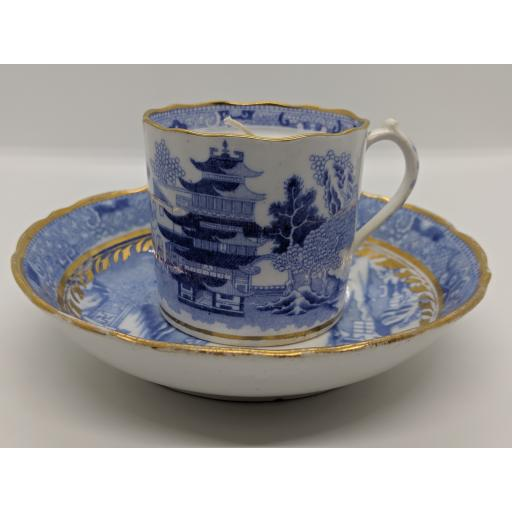 Miles Mason coffee can and saucer c 1795