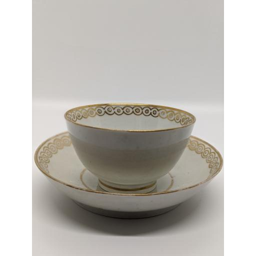 New Hall tea bowl and saucer c 1790
