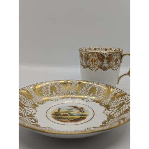 Victorian Staffordshire tea and coffee trio 1848