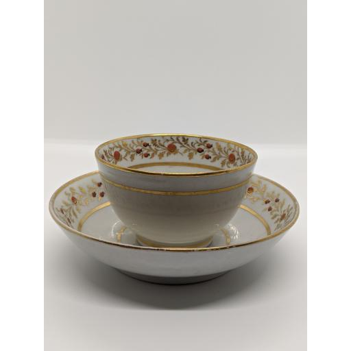 New Hall tea bowl and saucer c 1795