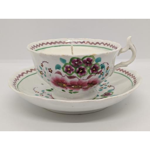 Staffordshire teacup and saucer c 1820