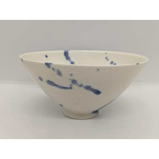 Porcelain splatter bowl by Anne Richards, bespoke filled with hand poured candle