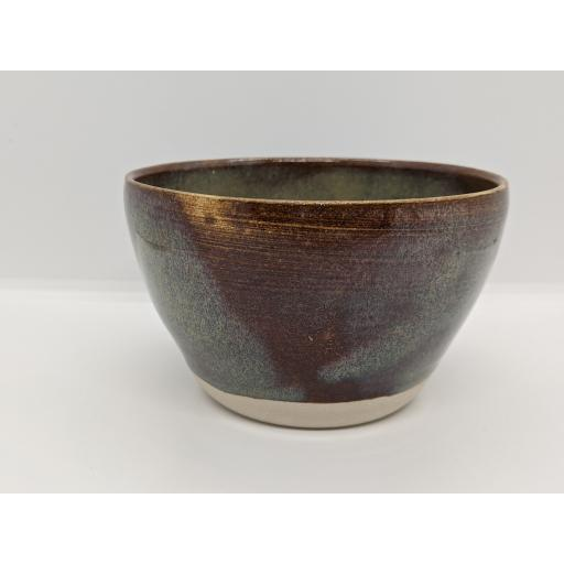 Chestnut blue bowl by Louise Tomlins, bespoke filled with hand poured candle
