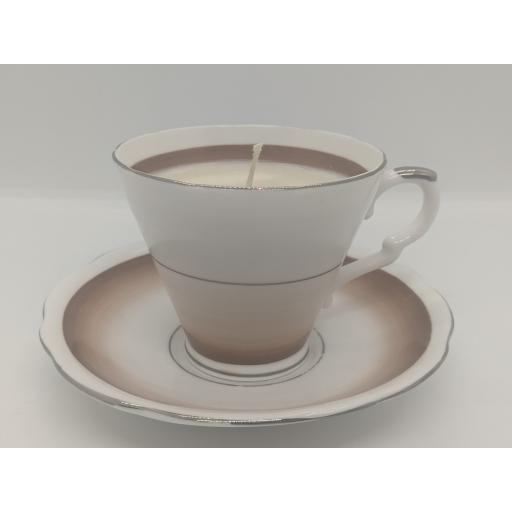 Art Deco tea cup and saucer c 1950 (brown)