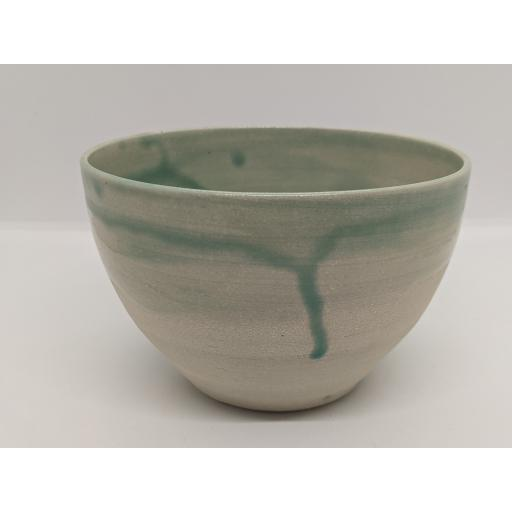 Sea green stoneware bowl by Louise Tomlins, bespoke filled with hand poured candle (4)
