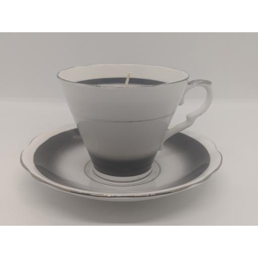 Art Deco tea cup and saucer c 1950 (black)