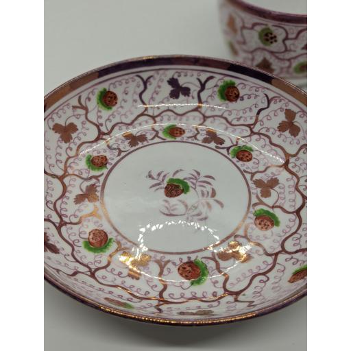 New Hall Bute shape teacup and saucer c 1815