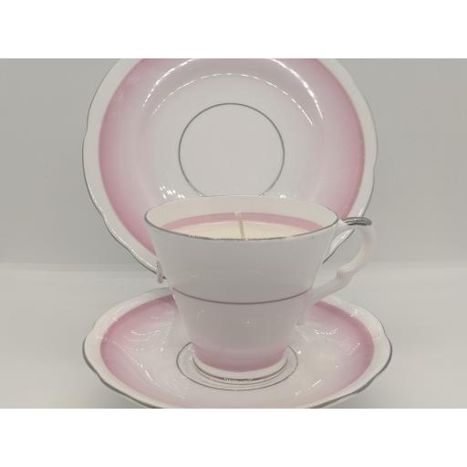 Art Deco tea trio c 1950 (pink)