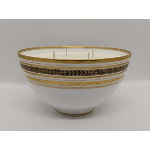 Minton gold and white slop bowl c 1918