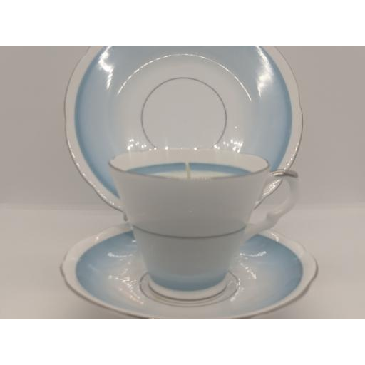 Art Deco tea trio c 1950 (blue)