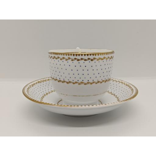 'Worcester' shape coffee cup and saucer c 1800