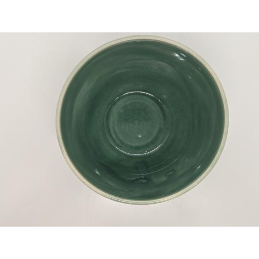 Sea green stoneware bowl by Louise Tomlins, bespoke filled with hand poured candle (1)