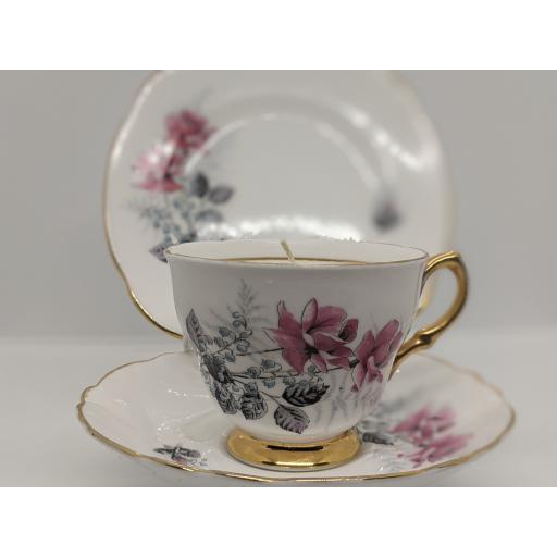 Royal Imperial vintage tea trio c 1959