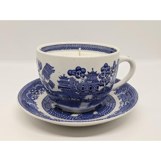Swintertons 'Willow' pattern breakfast cup and saucer c 1946