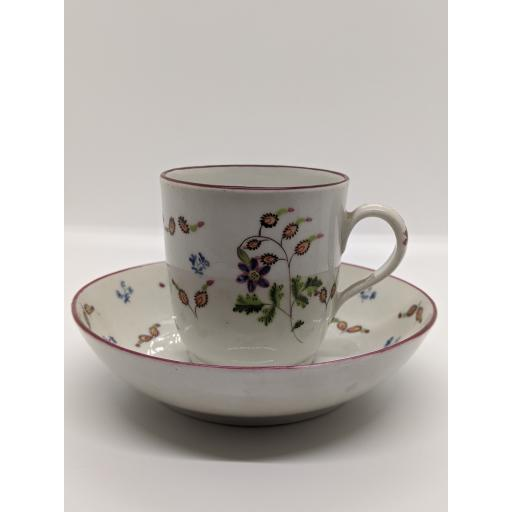 New Hall coffee cup and saucer c 1810