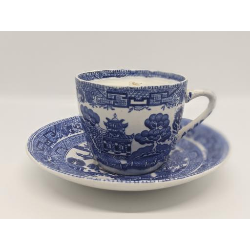 Wedgwood & Co 'Willow' pattern teacup and saucer c 1910