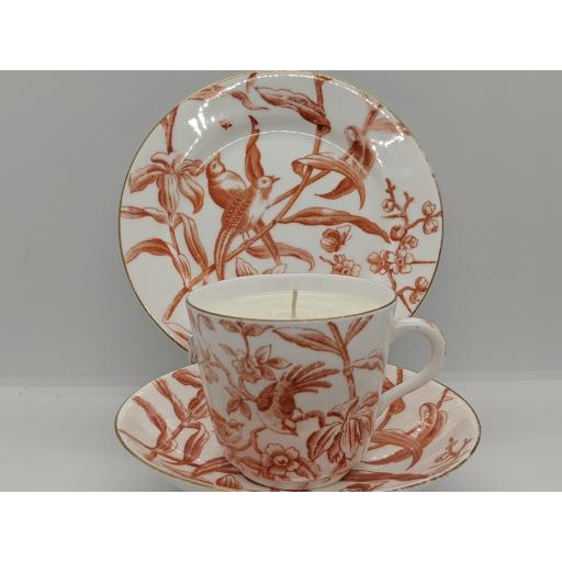 Aesthetic movement tea trio, dated marked for 1881