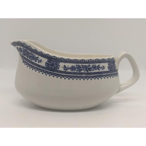 Vintage blue and white sauce boat c 1948