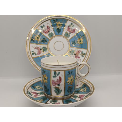 Victorian Staffordshire tea trio c 1860