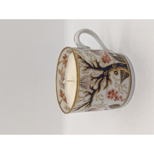 New Hall 'Trailing leaf' coffee can c 1805