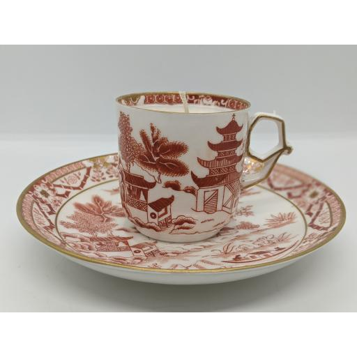 Aesthetic Movement George Grainger, Worcester coffee cup and saucer c 1880